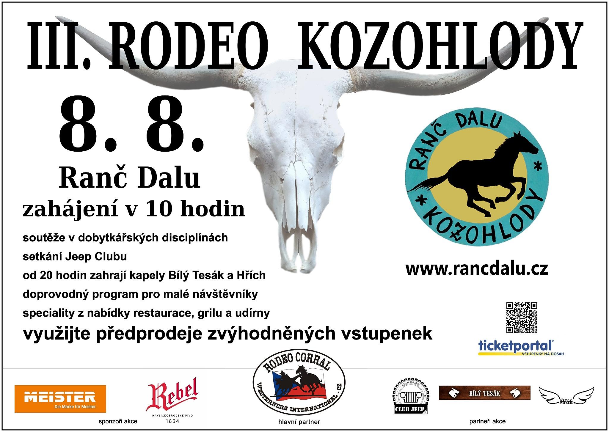 plakát na III RODEO 8.8.